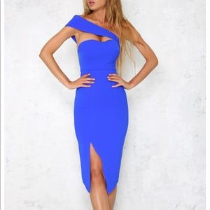 Hello Molly Madly In Love Midi Cobalt Dress